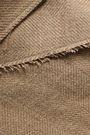 GOEN.J Frayed herringbone linen trench coat