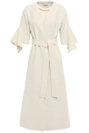 GOEN.J Belted cotton-blend coat