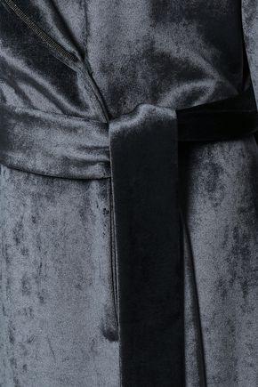 BRUNELLO CUCINELLI ビーズ&ベルト付き ベルベット コート