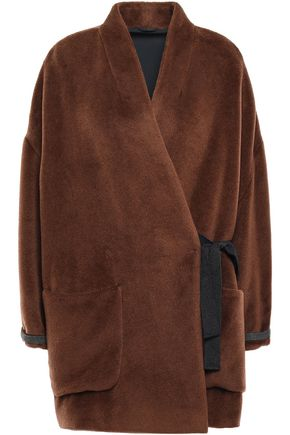 BRUNELLO CUCINELLI Brushed alpaca wrap coat