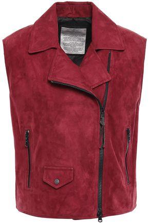 BRUNELLO CUCINELLI Bead-embellished suede vest