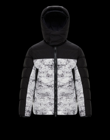 BLANC Black Down Jackets Man