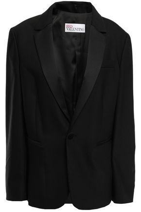 REDValentino Satin-trimmed wool-blend crepe blazer