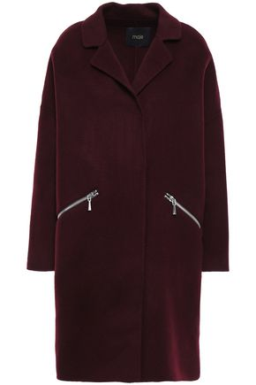 MAJE Grimala wool and cotton-blend felt coat