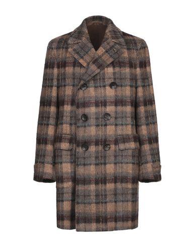 Купить Мужское пальто или плащ GABRIELE PASINI коричневого цвета