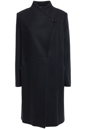 MAJE Double-breasted wool-felt coat