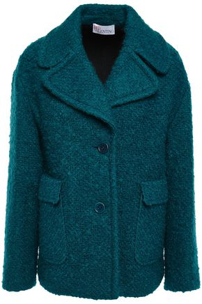 REDValentino Wool-blend bouclé-tweed coat