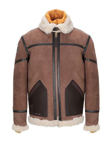 Купить Мужское пальто или плащ SCHOTT коричневого цвета