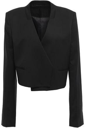 HELMUT LANG Cropped wool-twill blazer
