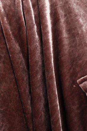 BRUNELLO CUCINELLI ビーズ付き ベルベット フード付きポンチョ