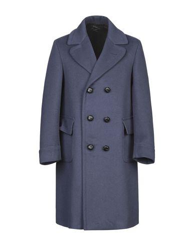 Купить Мужское пальто или плащ  синего цвета