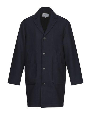Купить Мужское пальто или плащ CARHARTT темно-синего цвета