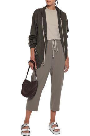 Rick Owens Tops RICK OWENS WOMAN CASHMERE HOODIE GRAY