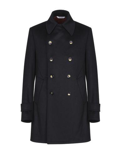 Купить Мужское пальто или плащ BOTTEGA MARTINESE темно-синего цвета