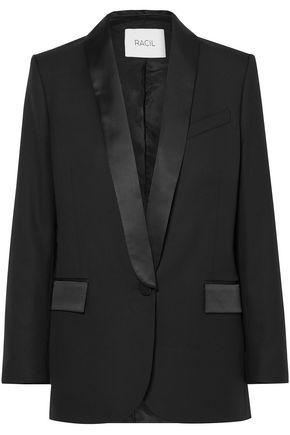 RACIL Paris satin-trimmed wool blazer