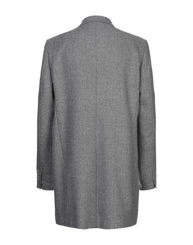 Фото 2 - Мужское пальто или плащ  серого цвета