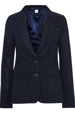 IRIS & INK Eryka pinstriped brushed wool-blend blazer