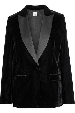 IRIS & INK Kai satin-trimmed velvet blazer