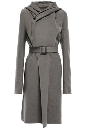 RICK OWENS Cashmere-felt hooded coat
