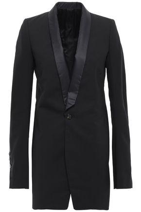 RICK OWENS Shell-trimmed wool-blend blazer