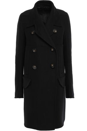RICK OWENS Double-breasted wool-blend felt coat