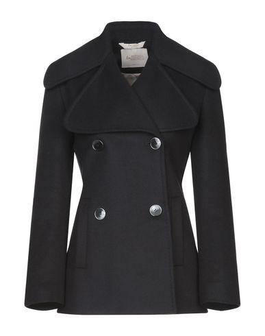 Купить Женское пальто или плащ BOTTEGA MARTINESE черного цвета
