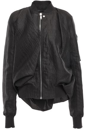 RICK OWENS Embossed paper-blend twill bomber jacket