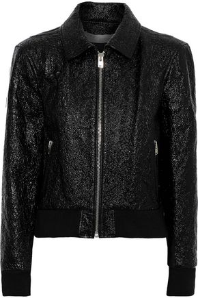 IRO Faces cracked patent-leather jacket