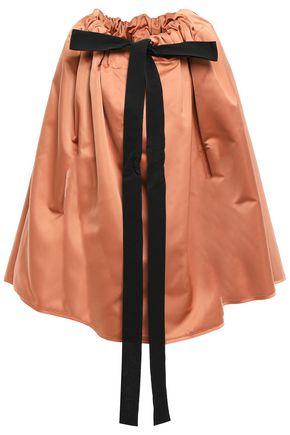 ROCHAS Bow-detailed satin cape