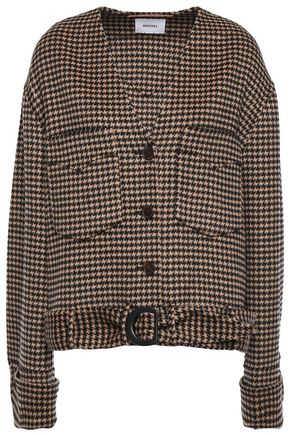 NANUSHKA Iman belted wool and silk-blend jacket