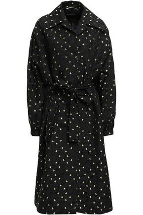 ROCHAS Belted cotton-blend jacquard coat
