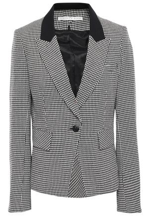 VERONICA BEARD Paneled cotton-blend peplum blazer