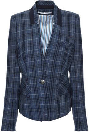 VERONICA BEARD Farley wool, cotton and linen-blend blazer