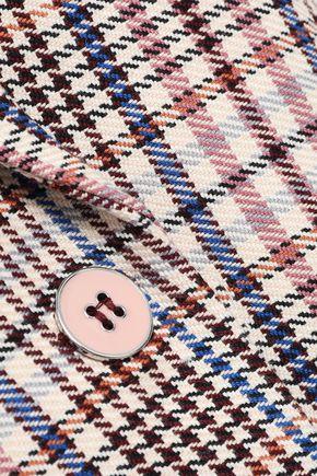 VERONICA BEARD Fuller checked cotton-blend blazer