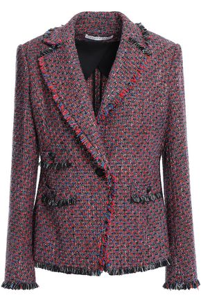 VERONICA BEARD Fabian frayed metallic tweed blazer