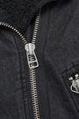 VERONICA BEARD Rosina faux shearling-lined denim biker jacket