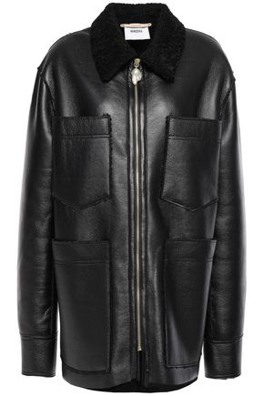 NANUSHKA Tara embellished faux shearling coat
