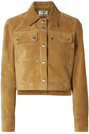 ACNE STUDIOS Cropped suede jacket