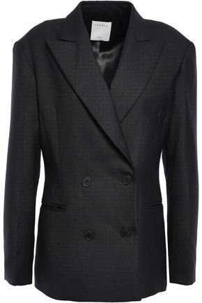 SANDRO Double-breasted woven blazer