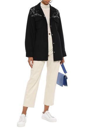 SANDRO 装飾付き ウール混フェルト ジャケット