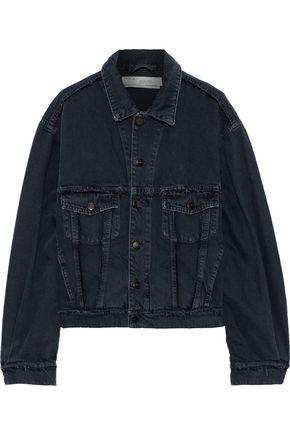 IRO Wind distressed printed denim jacket