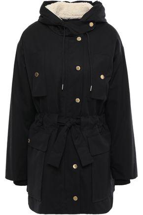 SANDRO Cotton hooded coat