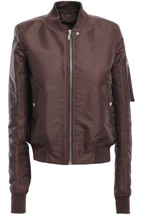 RICK OWENS Satin bomber jacket