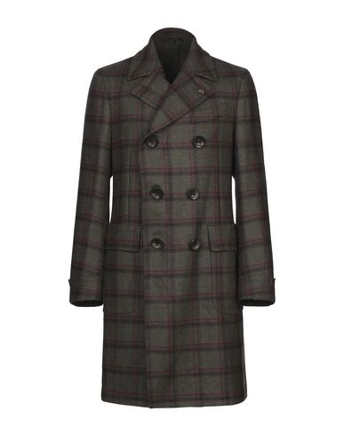 Купить Мужское пальто или плащ GABRIELE PASINI темно-зеленого цвета