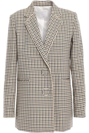 SANDRO Checked cotton blazer