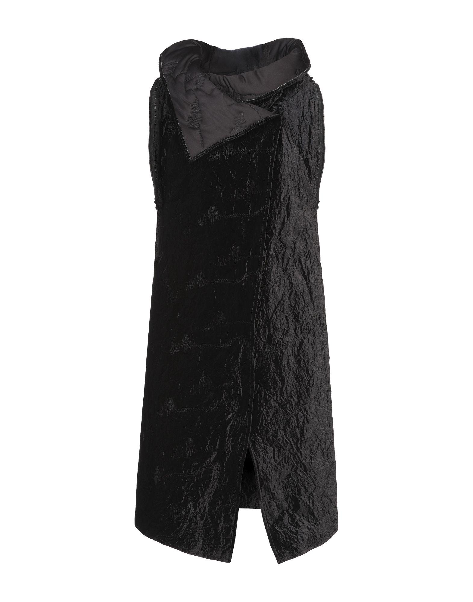 《セール開催中》SIMONA TAGLIAFERRI レディース コート ブラック S ポリエステル 81% / 指定外繊維(アルリカハネガヤ) 15% / ポリウレタン 4%
