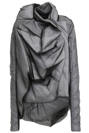 RICK OWENS Draped silk-organza and ribbed jersey jacket