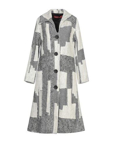Купить Женское пальто или плащ VIRGINIA BIZZI светло-серого цвета
