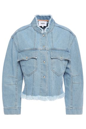 NANUSHKA Cyphre frayed denim jacket
