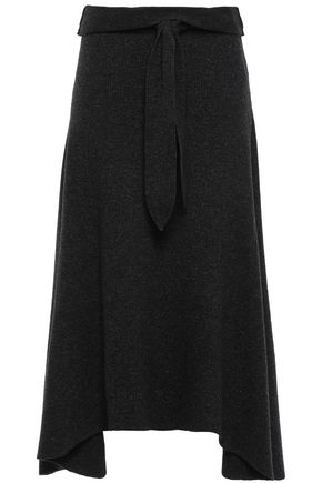 NANUSHKA Mizar lace-up ribbed-knit midi skirt